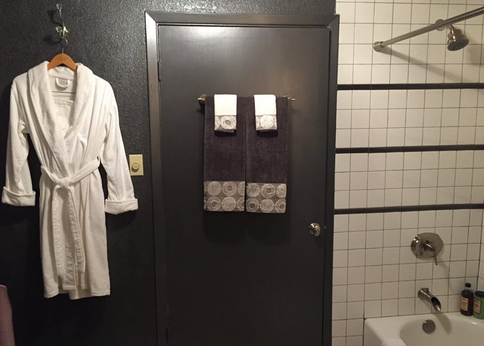 Bathroom and Bathrobe